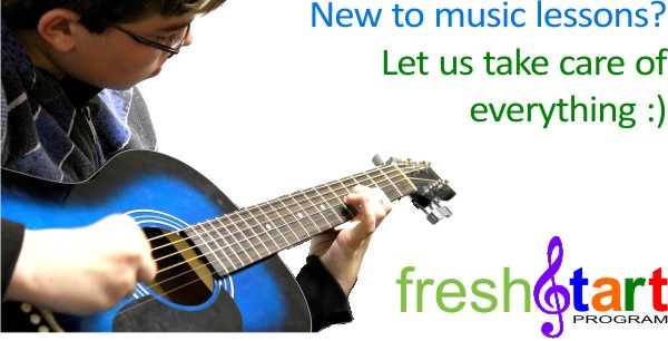 Brand new to music lessons?...      We'll take care of everything :)