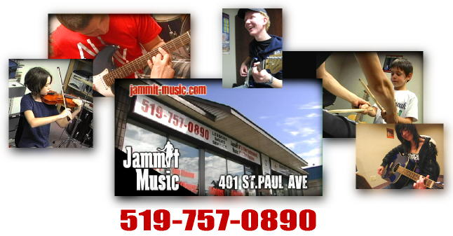 Music Lessons at Jammit Music - Guitar, Bass, Vocals, Drums, Keyboard, Violin, Mandolin, Banjo and Ukulele!